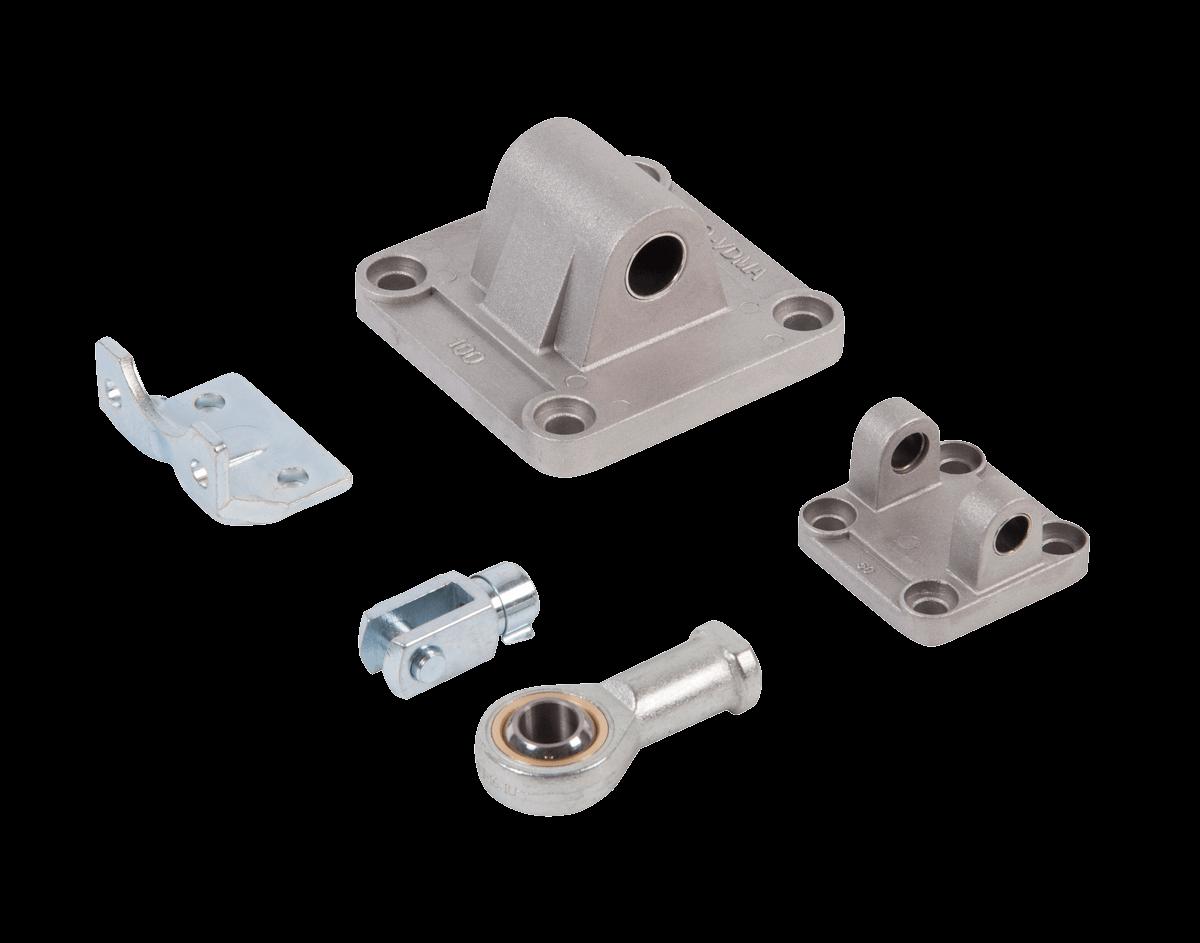 accessori per cilindri pneumatici ISO 15552 e ISO 21287