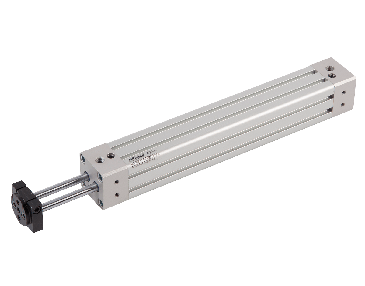 cilindro pneumatico ISO 15552 con aste gemellate antirotazione