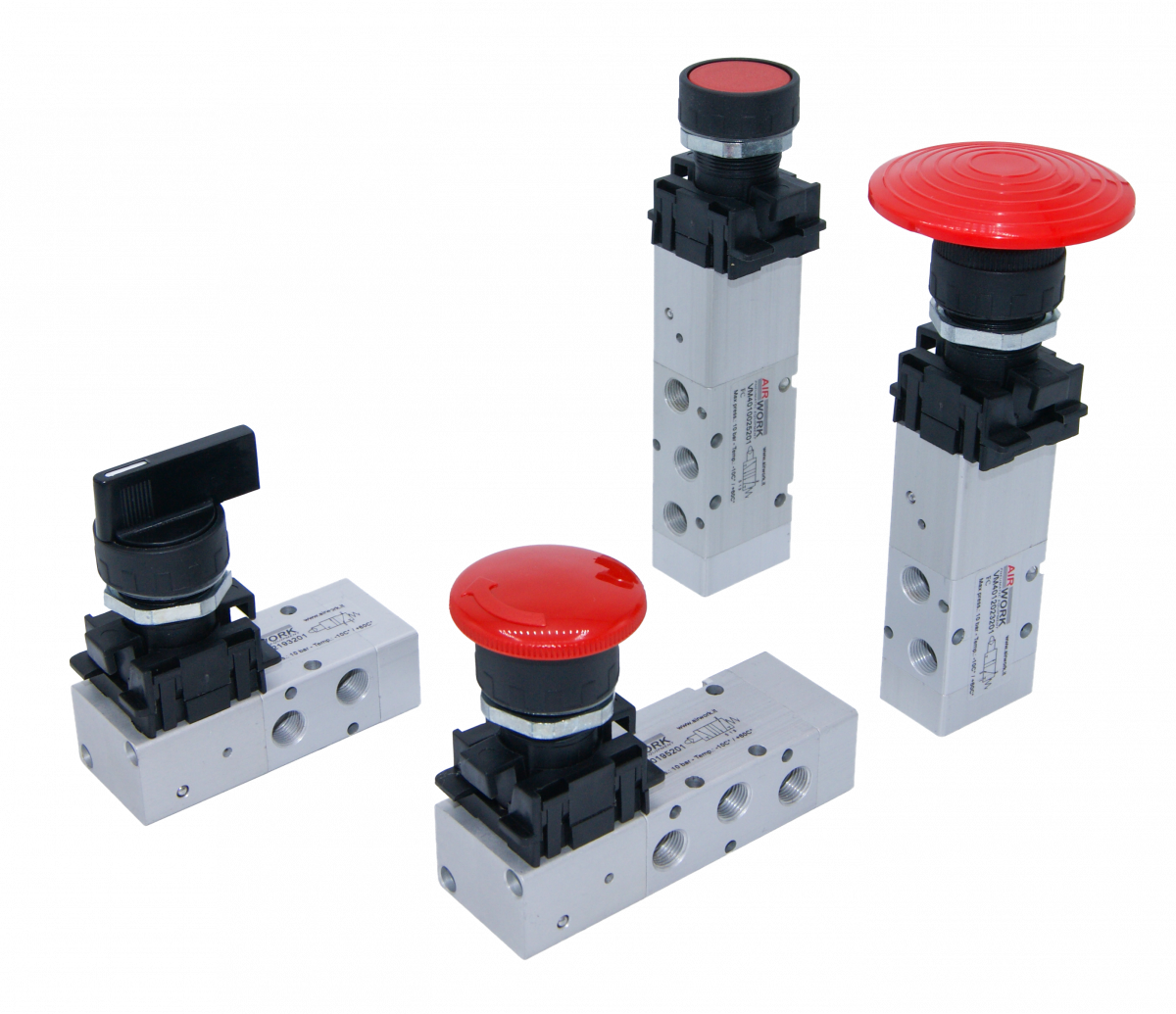 manual valves with integrated adaptor and interface