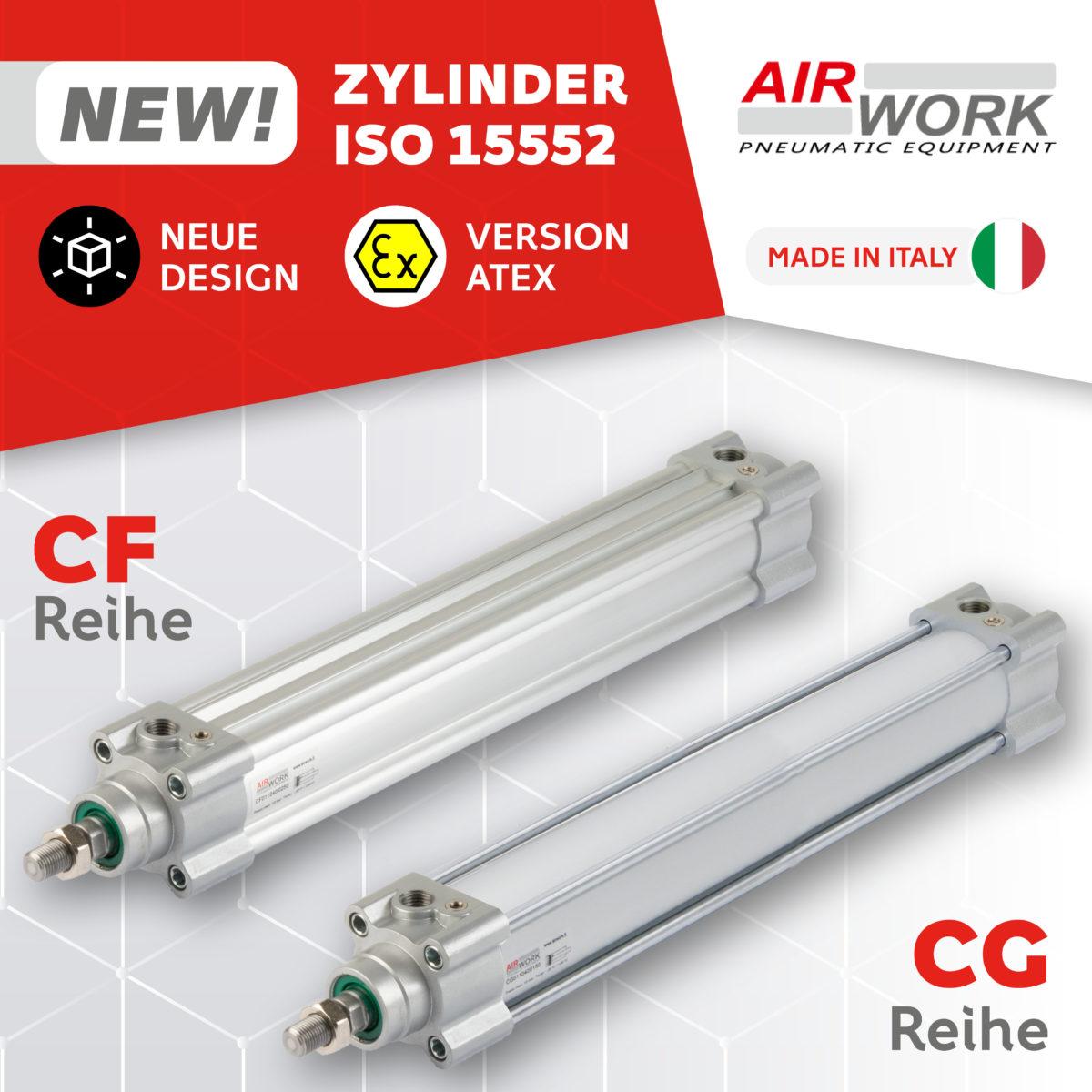 CF und CG pneumatikzylinder ISO 15552 Airwork