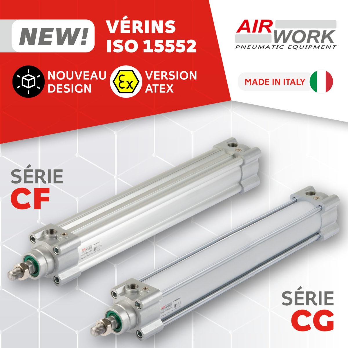 CF CG vérins pneumatiques ISO 15552 Airwork